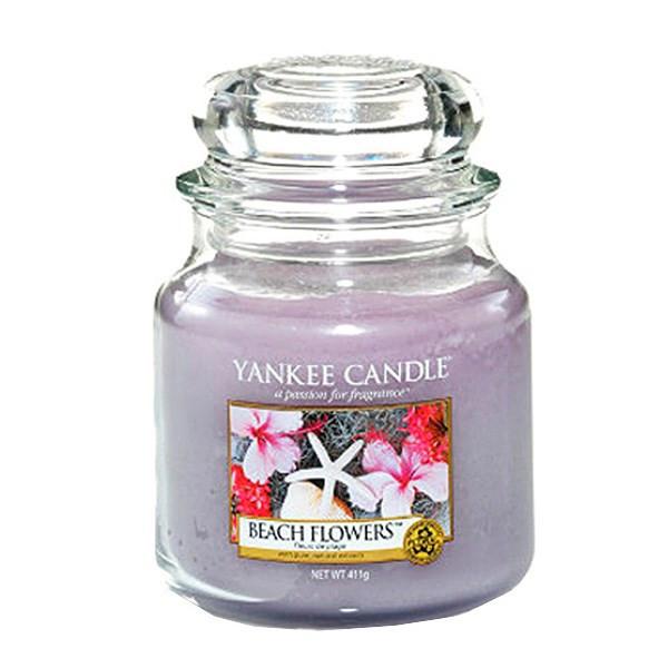 شمع کوچک ینکی کندل مدل گل های ساحلی
