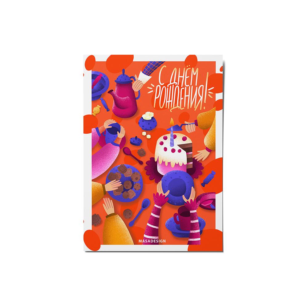 کارت پستال ماسا دیزاین مدل تولدت مبارک کد stkv0538