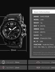 ساعت مچی عقربه ای مردانه اسکمی مدل 1155M-NP -  - 6