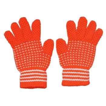 دستکش بافتنی بچگانه مدل M02 رنگ نارنجی