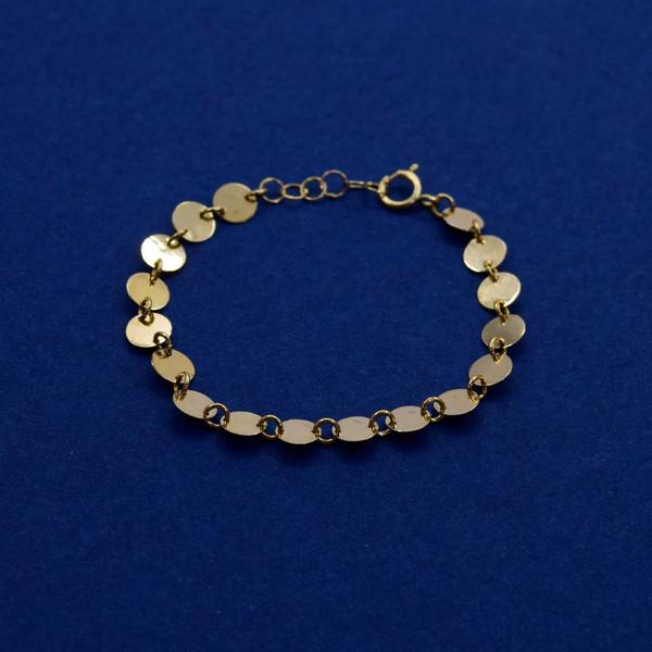 دستبند طلا 18 عیار دخترانه کانیار گالری مدل BB5