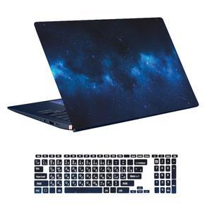 استیکر لپ تاپ توییجین و موییجین طرح Space کد 35 مناسب برای لپ تاپ 15.6 اینچ به همراه برچسب حروف فارسی کیبورد