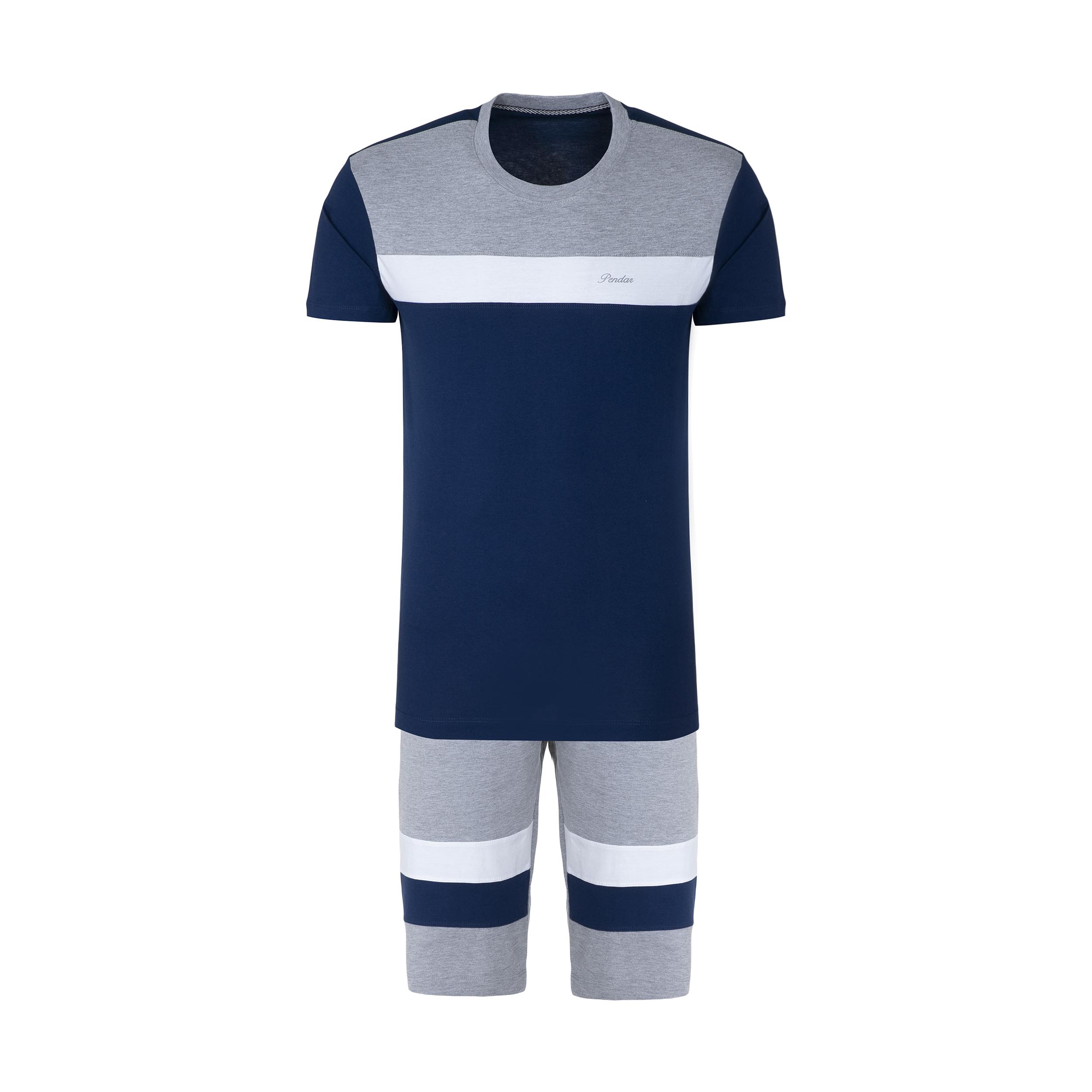 ست تی شرت و شلوارک مردانه پندار مدل B338 کد C6