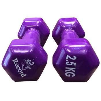 دمبل رکورد مدل 202 وزن 2.5 کیلوگرمی بسته 2 عددی