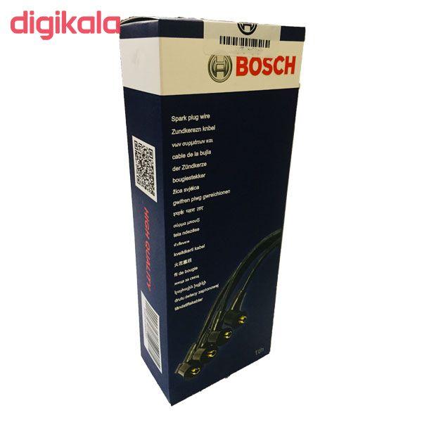 وایر شمع خودرو بوش مدل 004 مناسب برای پراید ساژم بسته 4 عددی  main 1 2