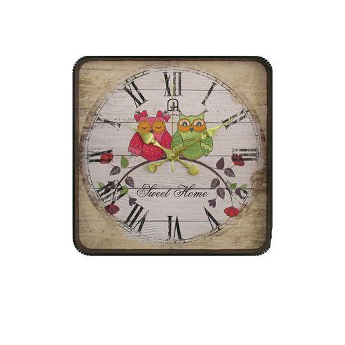 ساعت دیواری گلدن هوس طرح جغد مدل 001
