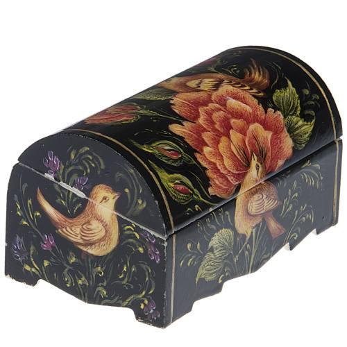 جعبه استخوانی طرح گل و مرغ 2