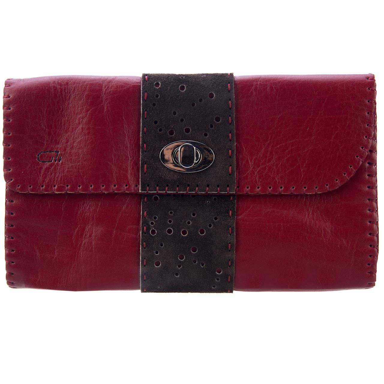 کیف دستی چرم طبیعی گالری راد طرح ترنج