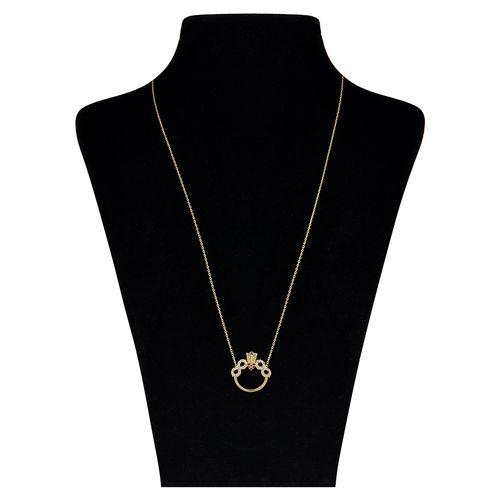 گردنبند طلا 18 عیار طرح حلقه و بینهایت بهگلد