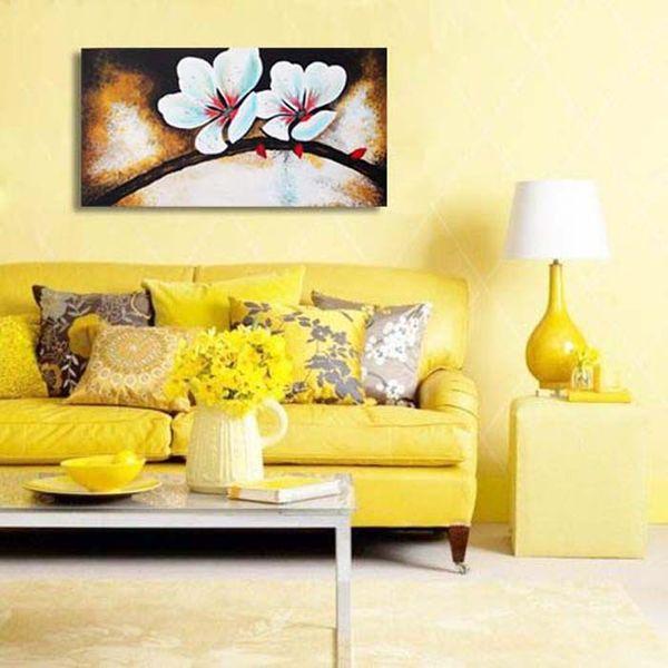 تابلو نقاشی طرح شکوفه سیب کد P 003