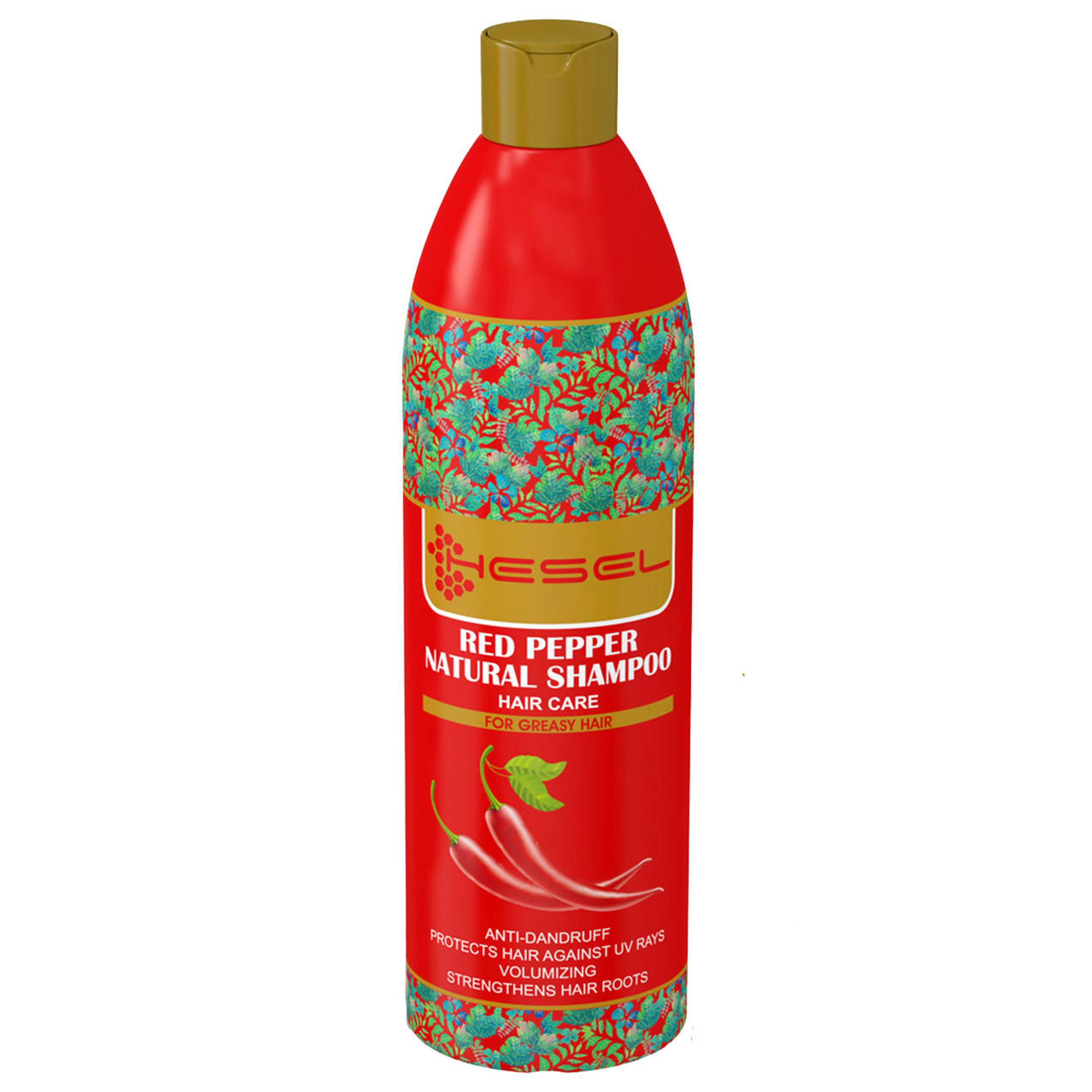 شامپو گیاهی هسل مدل Red Pepper مقدار 400 گرم