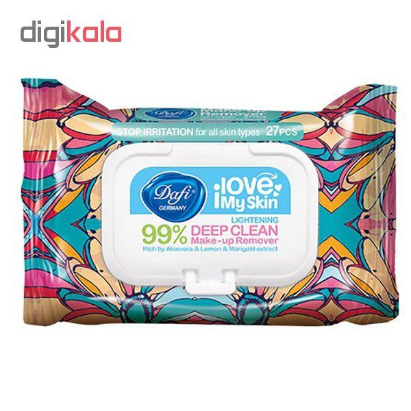 دستمال مرطوب پاک کننده آرایش دافی مدل Q10 Plus بسته 27 عددی