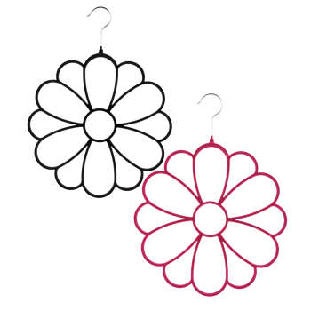آویز شال و روسری مدل Flower بسته 2 عددی