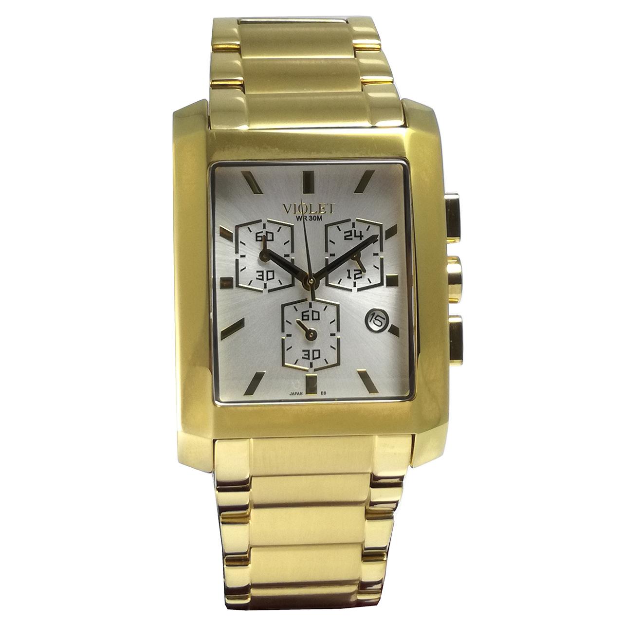 ساعت مچی عقربه ای مردانه ویولت مدل 0160G-2METAL