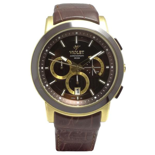 ساعت مچی عقربه ای مردانه  ویولت مدل 0412G-2LEATHER