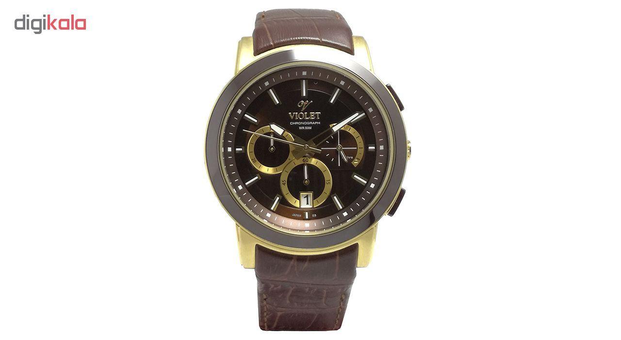 ساعت مچی عقربه ای مردانه  ویولت مدل 0412G-2LEATHER main 1 1