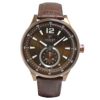 ساعت مچی عقربه ای مردانه  ویولت مدل 12375GBR-2LEATHER