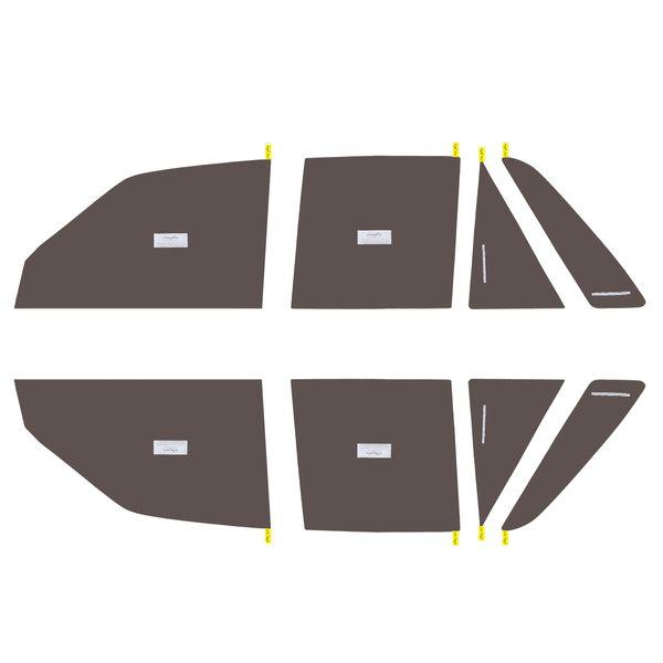 برچسب دودی شیشه خودرو مدل QUALITY USA مناسب برای خودروی پراید |