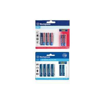 باتری قلمی و نیم قلمی وستینگ هاوس مدل پلاس آلکالاین بسته 12 عددی
