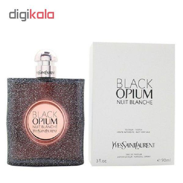 تستر ایو سن لورن مدل Black Opium Nuit Blanche ادو پرفیوم زنانه 90 میلی لیتر (جعبه تستر سفید و بدون درب اصلی)