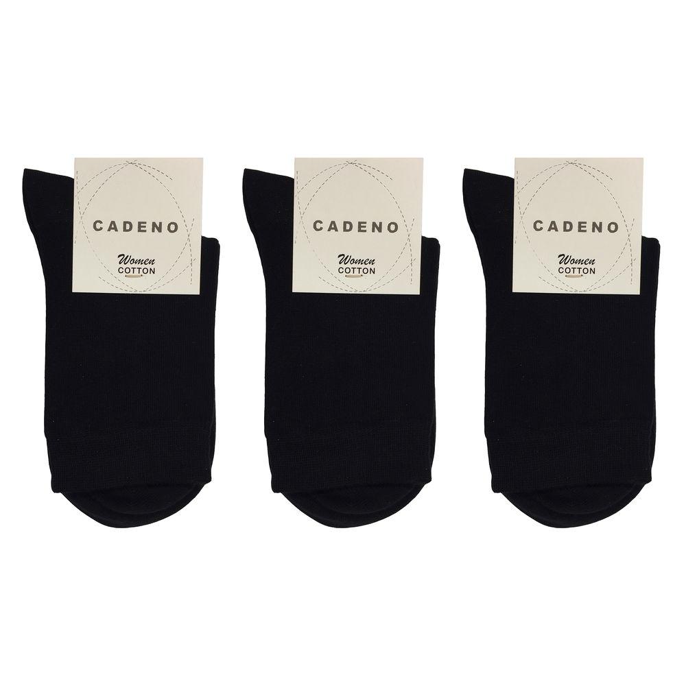 جوراب زنانه کادنو کد CAL1045 بسته 3 عددیرنگ مشکی