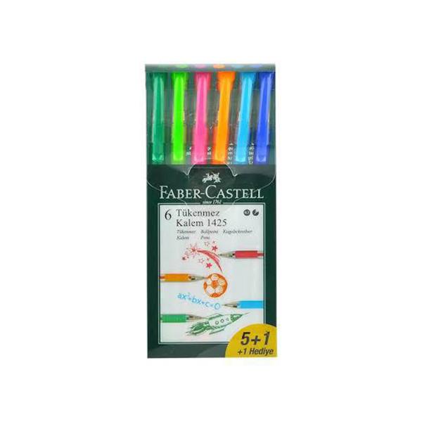 خودکار فابر کاستل مدل 6 pen بسته 6 عددی