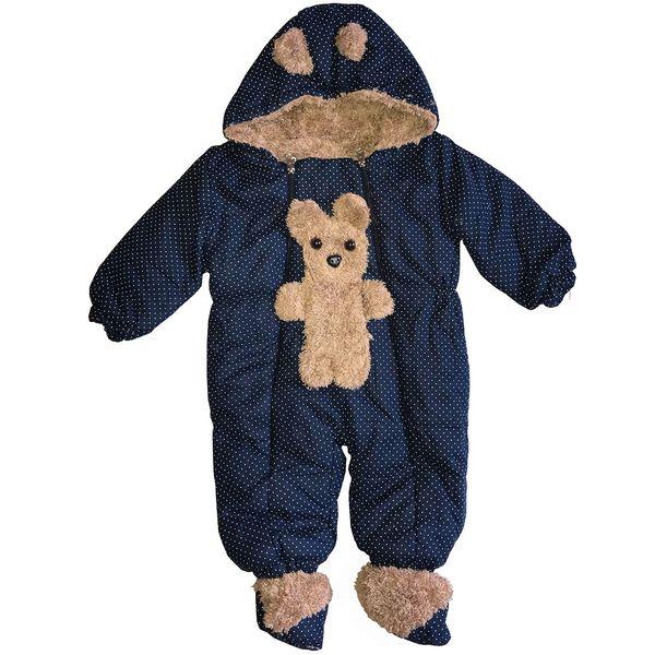 کاپشن سرهمی نوزادی طرح Bear |