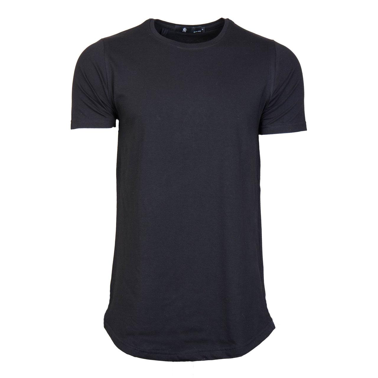 تی شرت مردانه مدل لانگ مشکی