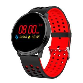 ساعت هوشمند لینوو مدل M9 SE سنسور اکسیژن خون همراه بند چرمی یدکی