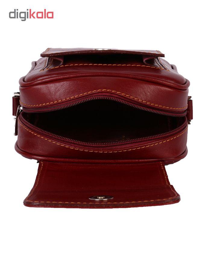 کیف دوشی رویال چرم کد W55-Crimson