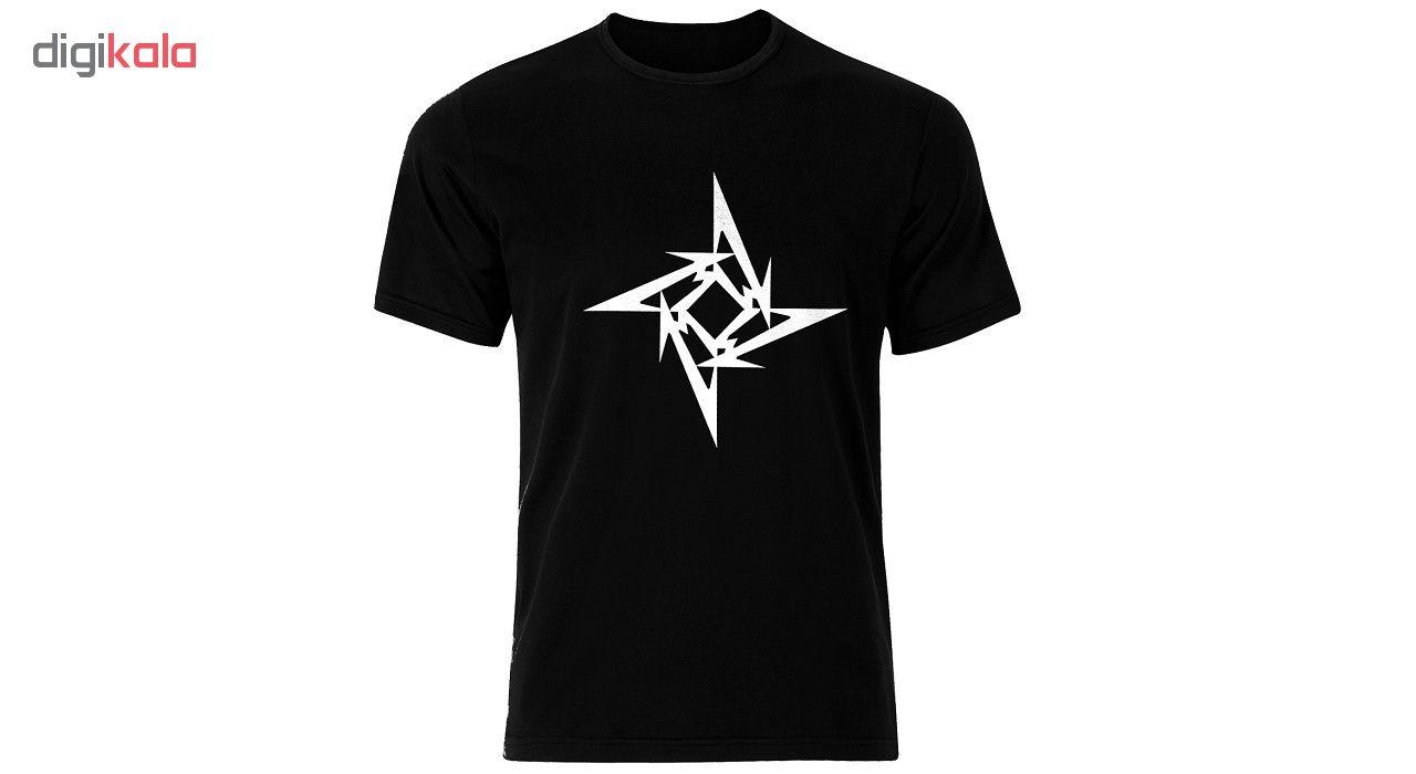 تی شرت نخی مردانه طرح گروه موسیقی متالیکا کد Metalica 001M تیشرت