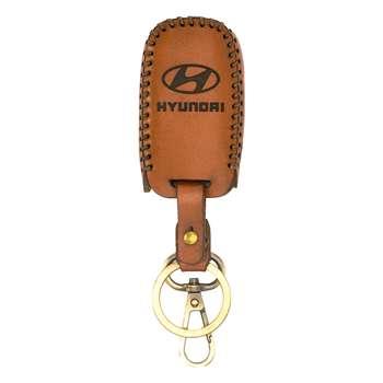 جاسوئیچی خودرو چرم طبیعی کد ct-413 مناسب برای هیوندا 3 کلید (عرضه کالا)