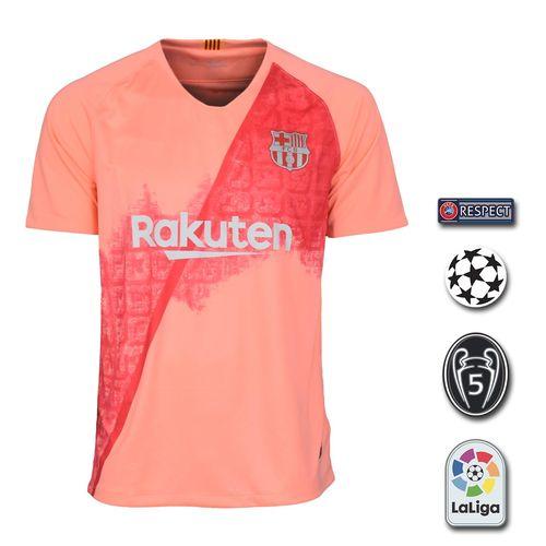 پیراهن ورزشی طرح بارسلونا مدل 3rd18/19 به همراه تگ