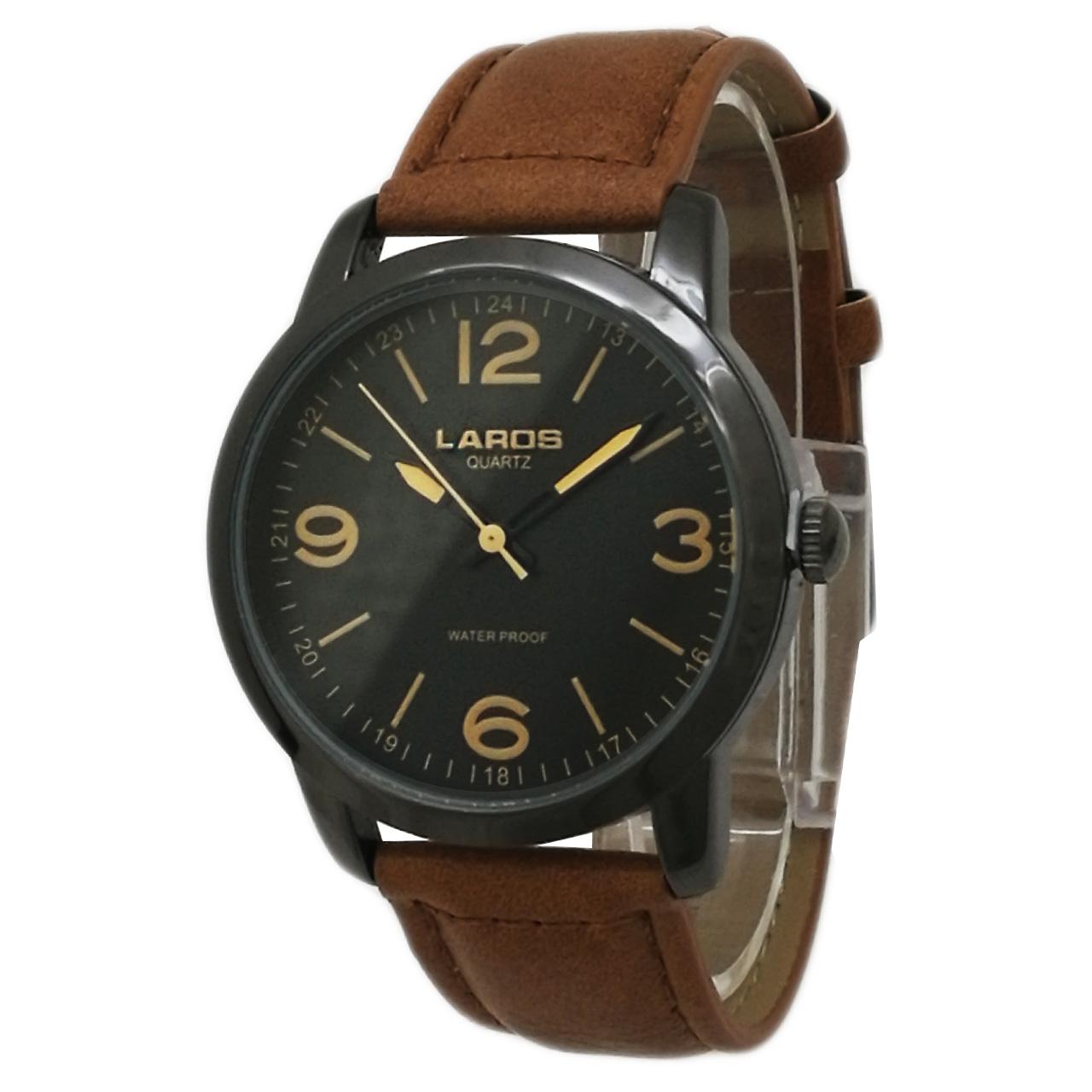 کد تخفیف                                      ساعت مچی عقربه ای مردانه لاروس مدل1117-80153-s به همراه دستمال مخصوص برند کلین واچ