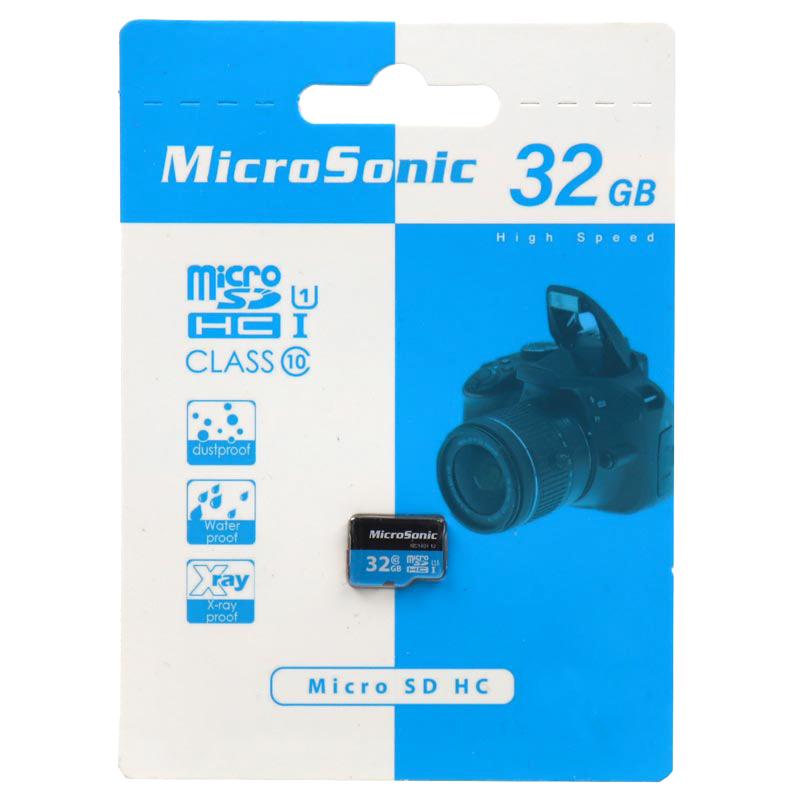 کارت حافظه microSDXC میکروسونیک مدل HC کلاس 10 استاندارد UHS-I U1 سرعت 90MBps ظرفیت 32 گیگابایت