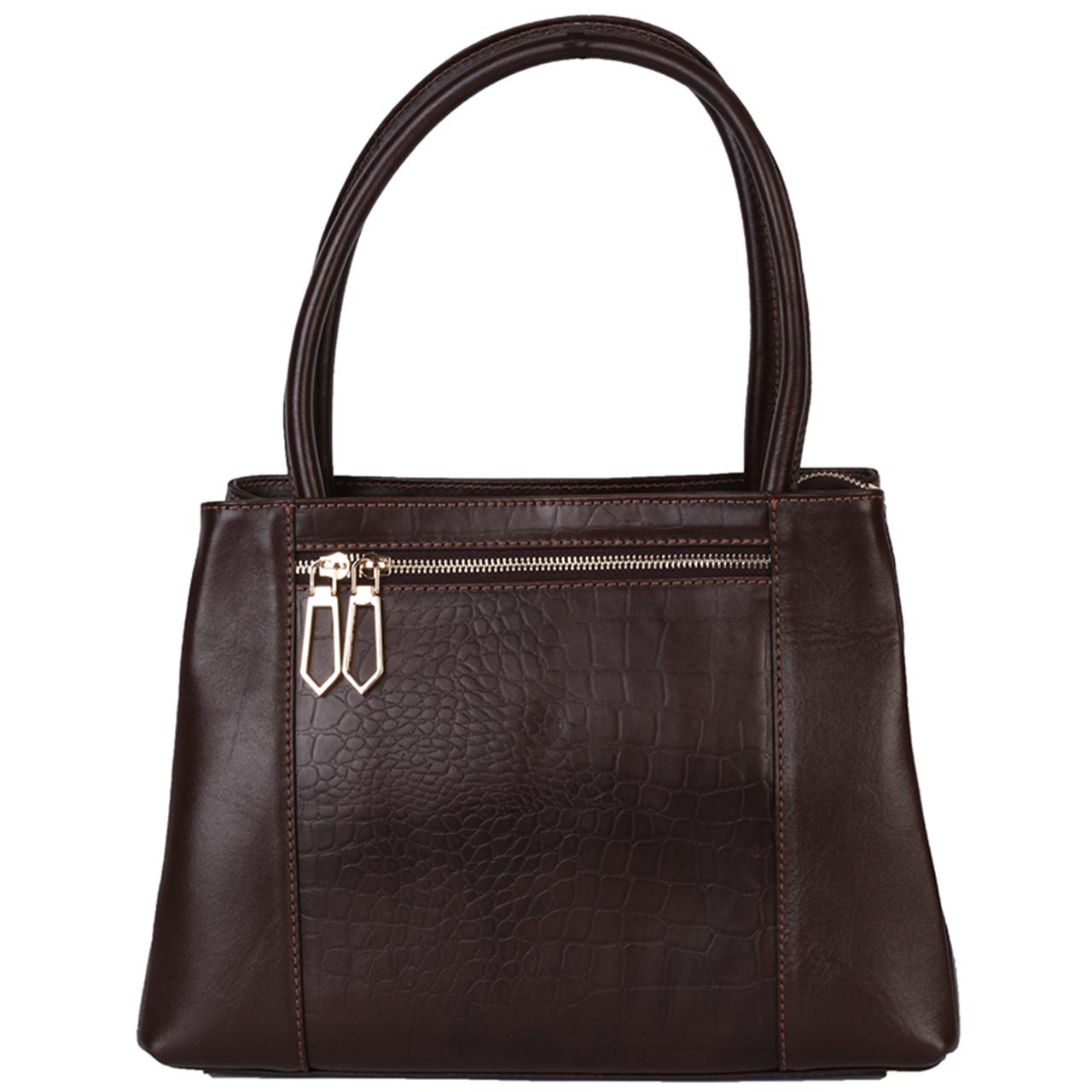 کیف رو دوشی زنانه رویال چرم مدل WB5-DarkBrown