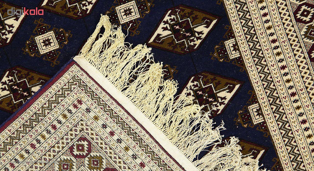 فرش دستبافت 3 متری چله ابریشم طرح ماری گل ترکمن کد STD-013