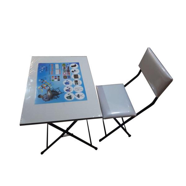 میز و صندلی تاشو و تنظیم شو شهریار مدل رنگی
