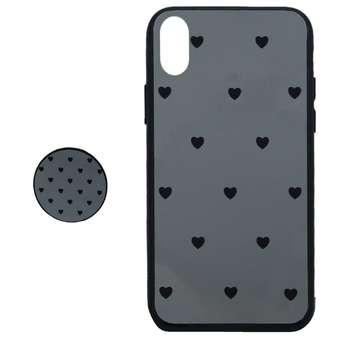 کاور طرح Heart مدل BH-01 مناسب برای گوشی موبایل اپل Iphone X / XS به همراه نگهدارنده