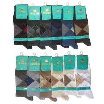 جوراب مردانه ال سون مدل اسکاج کد PH04 مجموعه 12 عددی