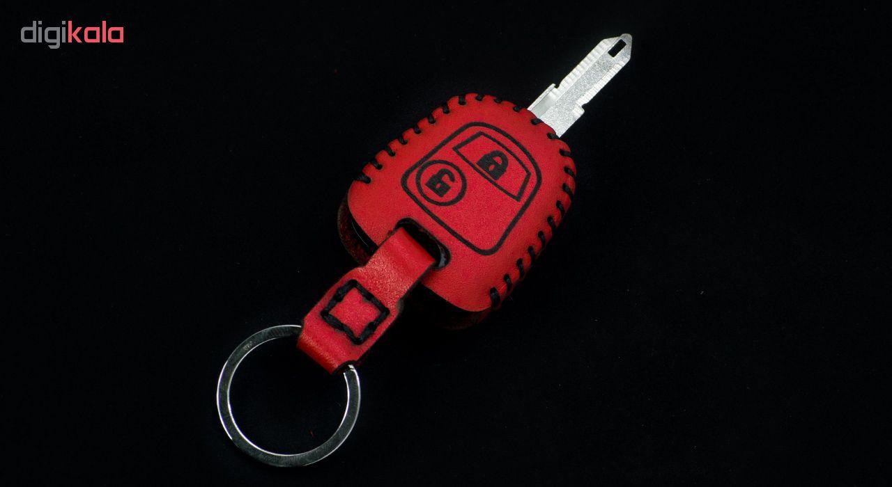 جاسوئیچی خودرو چرم طبیعی کد ct-014 مناسب برای پژو 206 و 207 ،پارس جدید (عرضه کالا) main 1 1