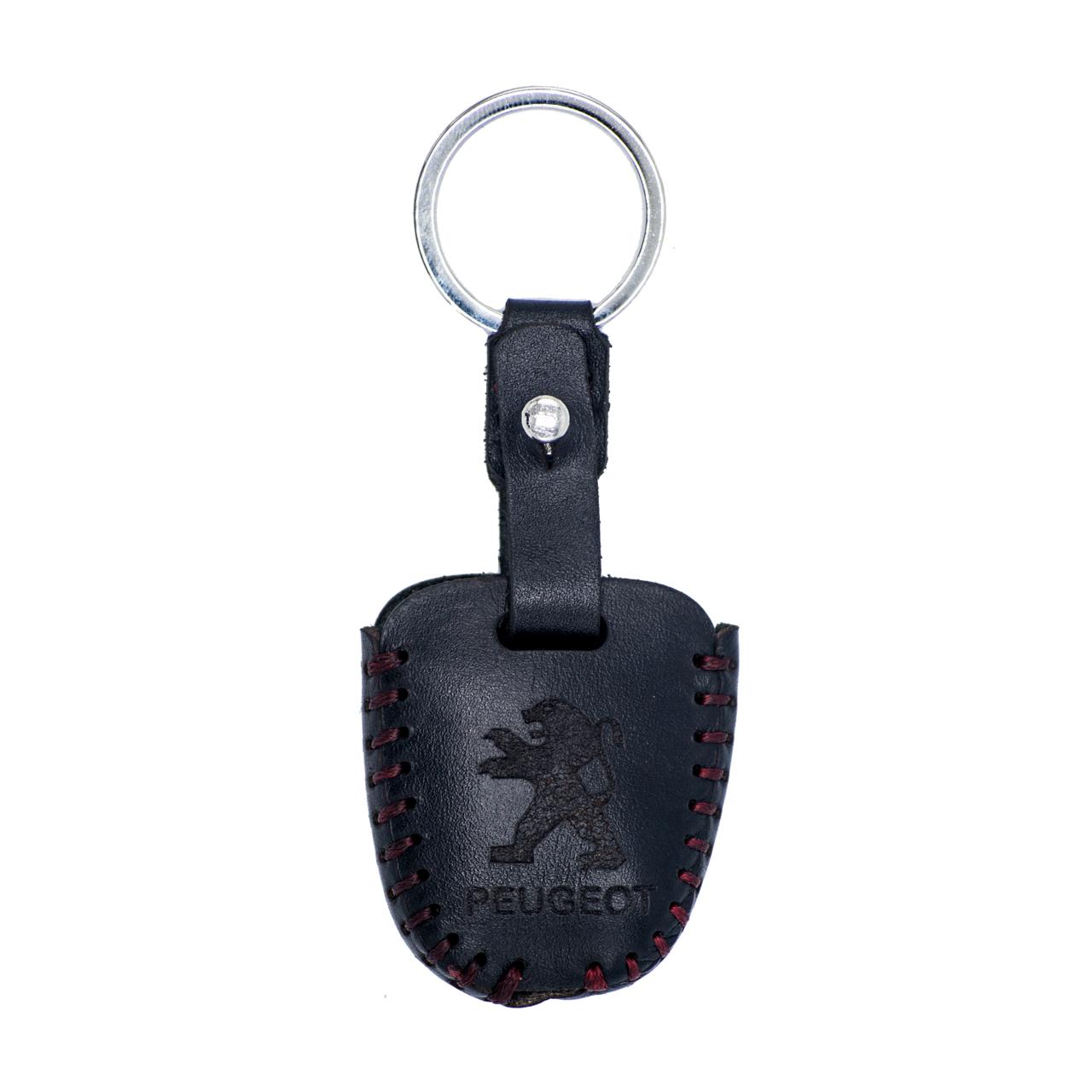 خرید                     جاسوئیچی خودرو چرم طبیعی کد ct-011 مناسب برای پژو 206 و 207 ،پارس جدید (عرضه کالا)