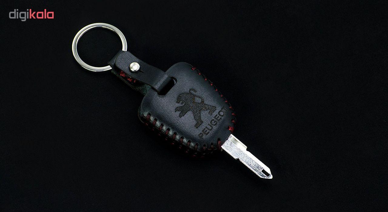 جاسوئیچی خودرو چرم طبیعی کد ct-011 مناسب برای پژو 206 و 207 ،پارس جدید (عرضه کالا) main 1 1