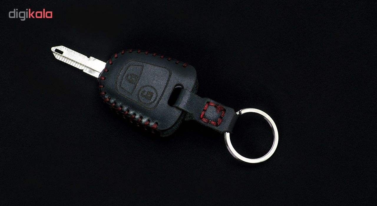 جاسوئیچی خودرو چرم طبیعی کد ct-011 مناسب برای پژو 206 و 207 ،پارس جدید (عرضه کالا) main 1 2