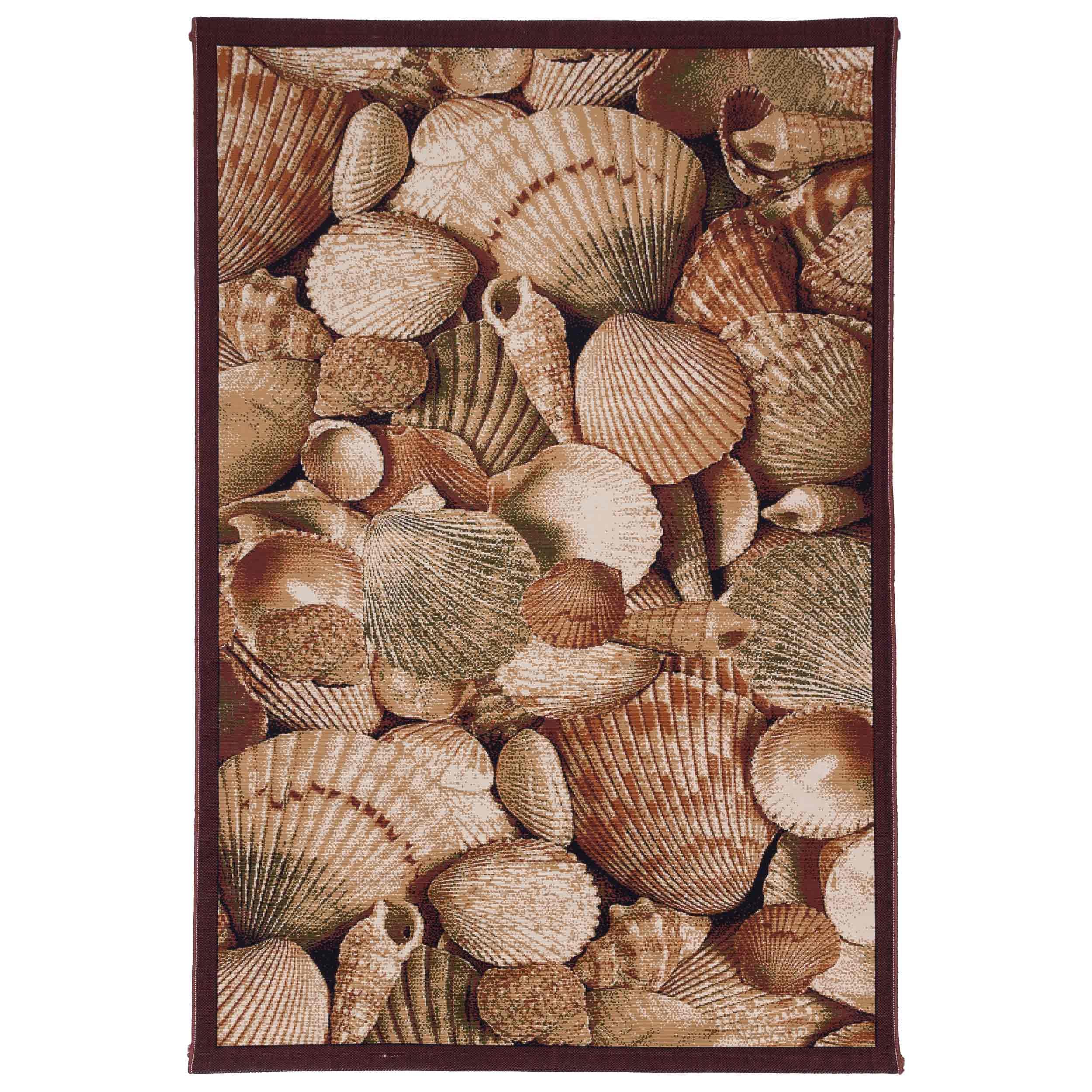 گلیم ماشینی دنیای فرش طرح گوش ماهی کد 139