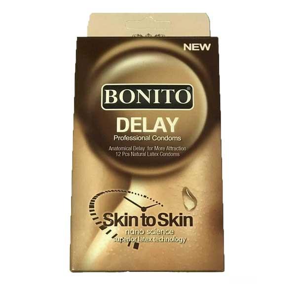 کاندوم بونیتو مدل تاخیری delay بسته 12 عددی