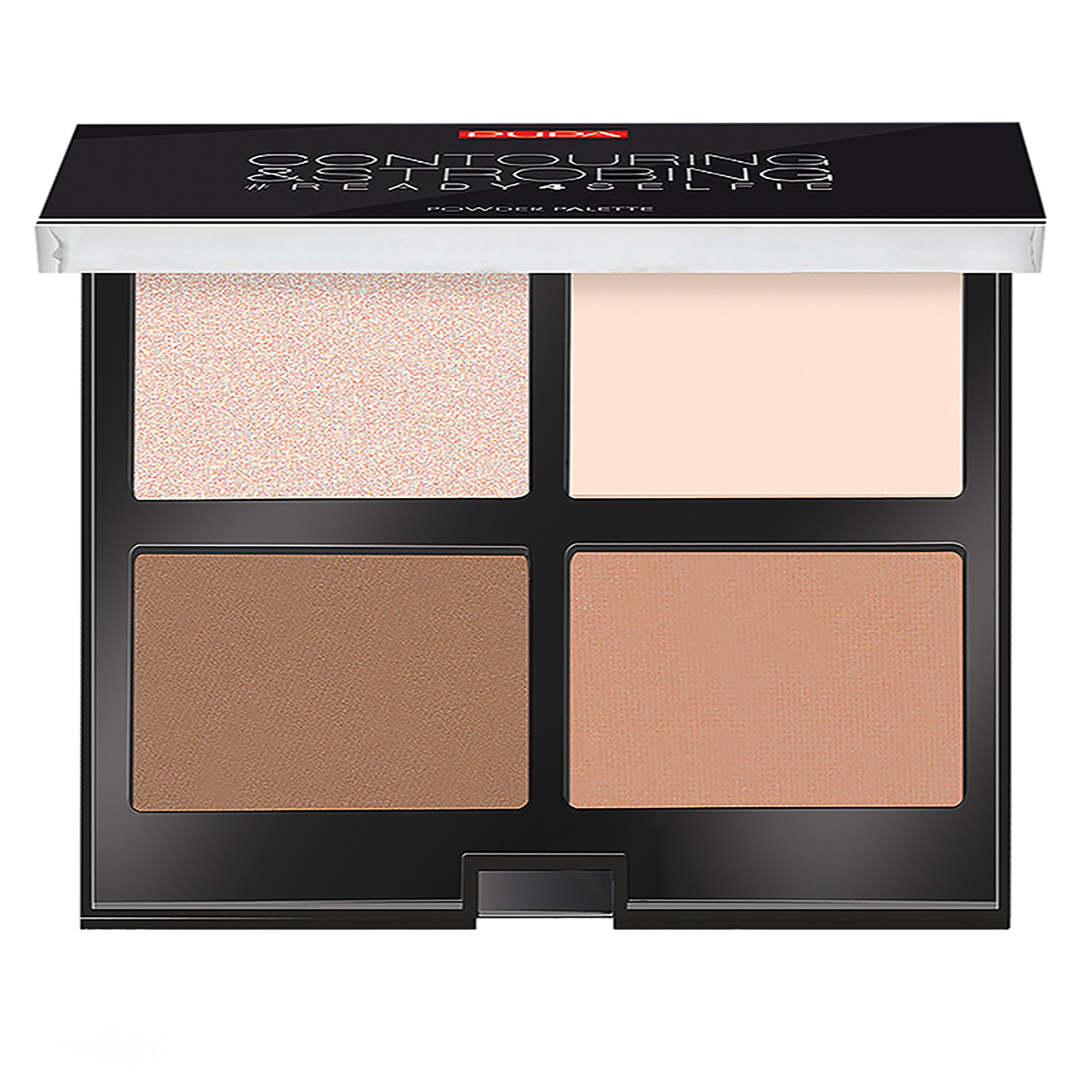 قیمت پالت کانتورینگ پوپا سری Strobing Palette مدل Light Skin شماره 01