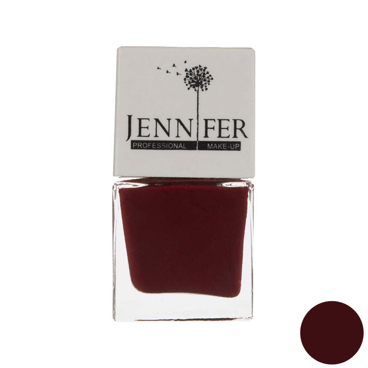 لاک ناخن جنیفر مدل JN شماره 5 به همراه سوهان ناخن
