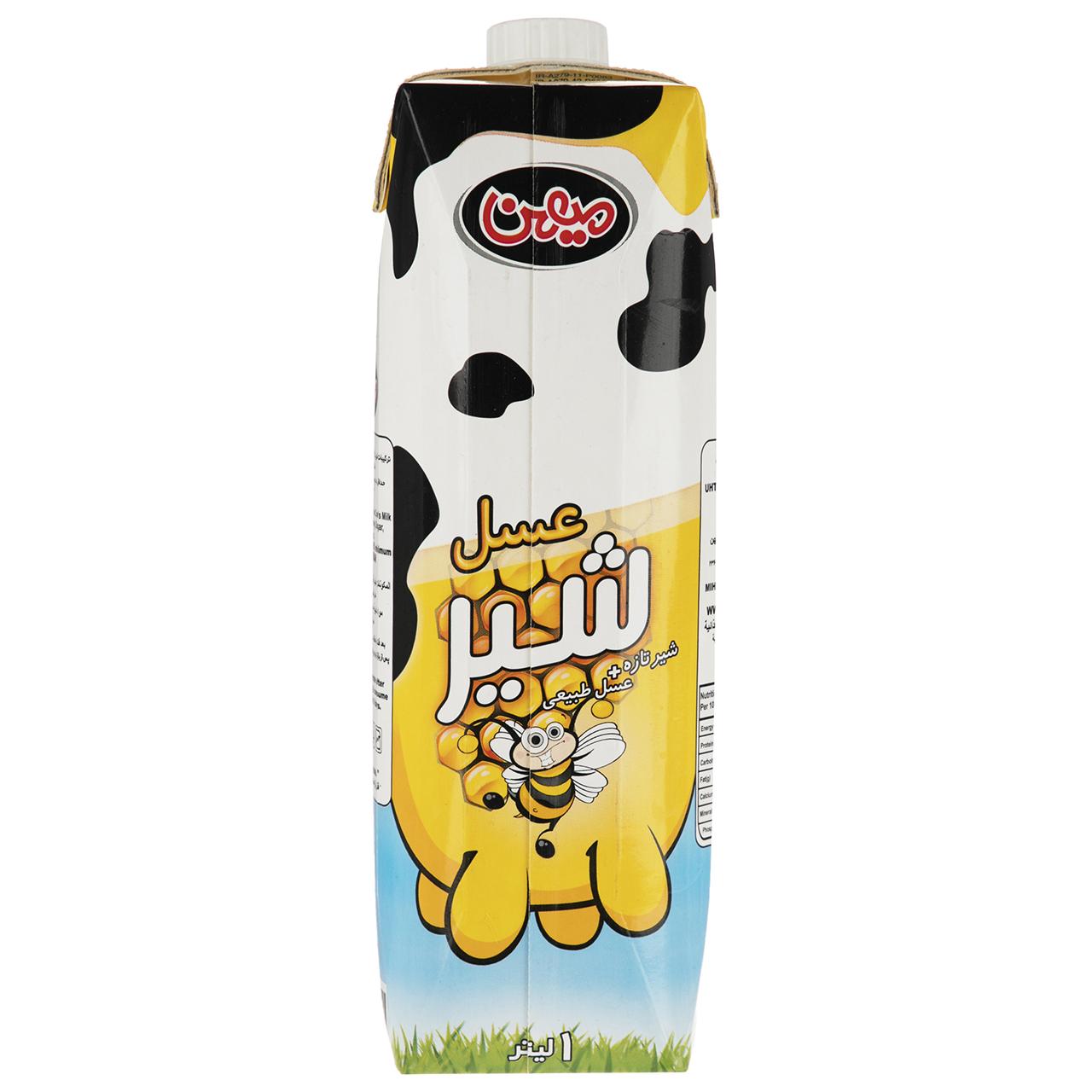 شیر عسل میهن مقدار 1 لیتر