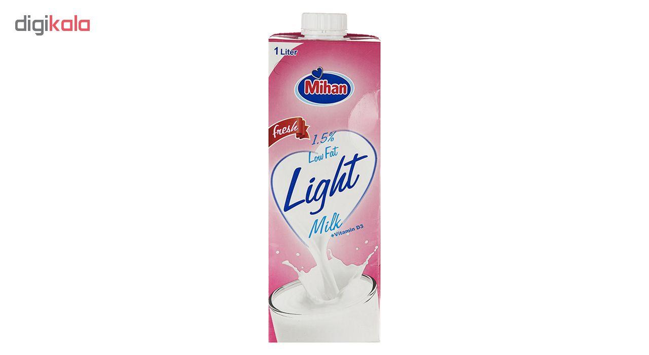 شیر کم چرب میهن - 1 لیتر